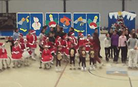 La escuela celebró la Navidad
