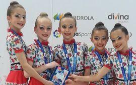 El alevín de rítmica Subcampeón de España