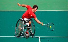 Clínic de tenis paralímpico en Montemar