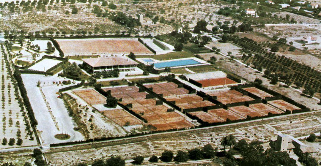 Primeras instalaciones en La Albufereta