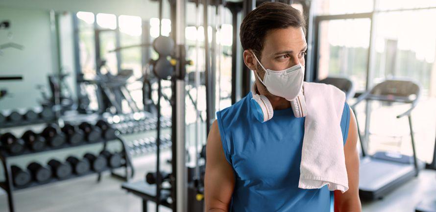 Uso de mascarilla en el gym