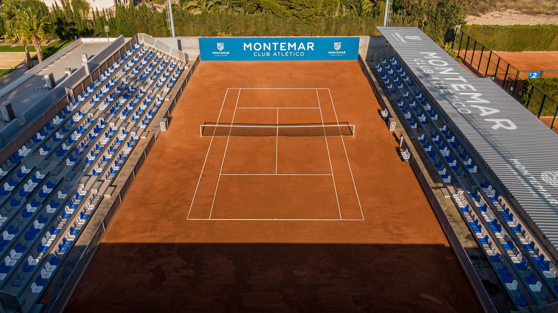 Pista principal de Tenis CA Montemar