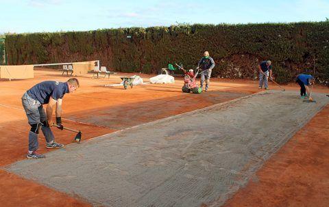 Seguimos mejorando las pistas de Tenis