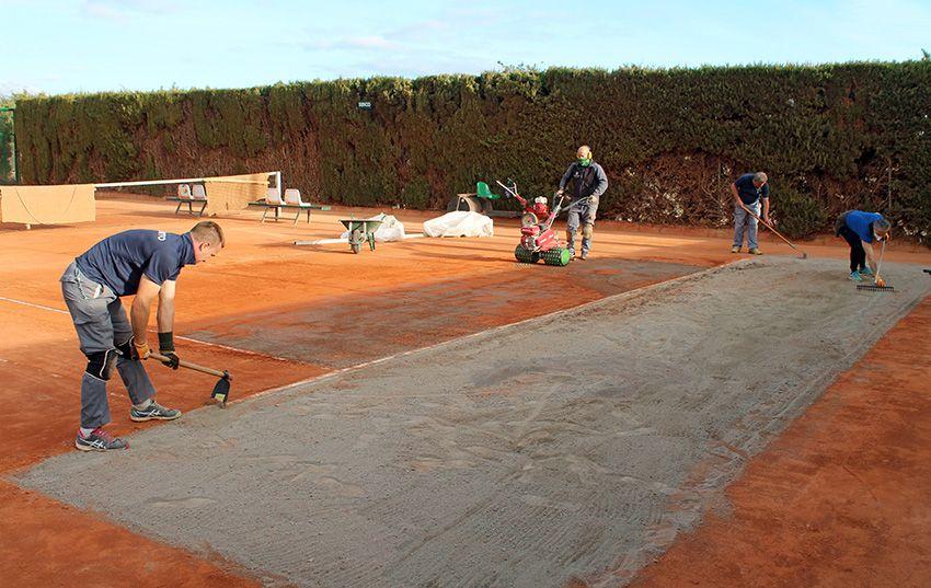 Renovación de las Pistas de Tenis