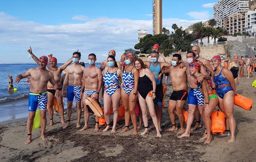 Nadadores Máster Montemarinos en la IV Travesía La Cantera
